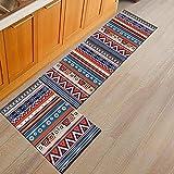 HLXX Alfombra de cocina, color negro, blanco, para puerta de entrada, dormitorio, sala de estar, cabecera, alfombra A12, 50 x 80 cm