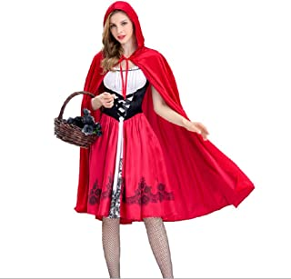 Halloween Little Red Riding Hood Women's COSPLAY Costumes Stage Dress