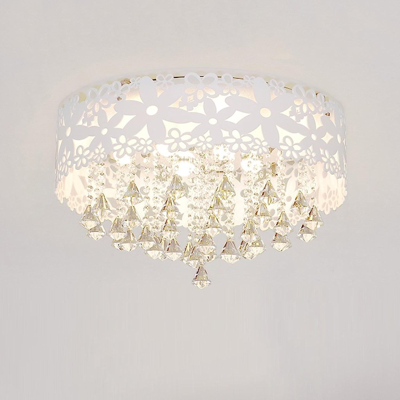 TMY Lampe de plafond en cristal moderne, décoration sculptée creuse Eclairage de plafond léger, couloir rond de couloir lampe de plafond à la chambre -37cm (Couleur   Warm lumière-37cm 14.5in-18w)