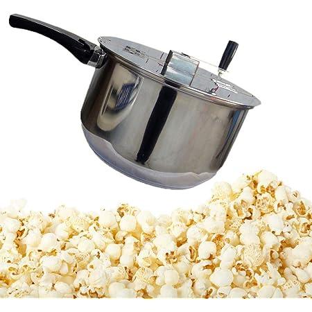 YC/° Pop-Corn//Snack Maker Popcorn Popper en Acier Inoxydable Stovetop