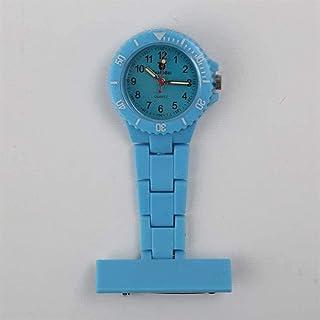 ساعة جيب طبية للممرضات الصحية، ساعة جيب ممرضة طبية، ساعة جيب بحزام سيليكون، ساعة ممرضة بروش