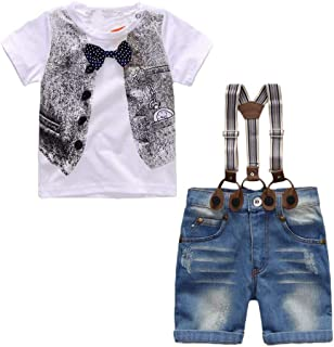 Hopscotch Boys Poly Cotton T-Shirt and Short Set in White Colour
