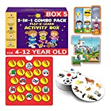 It is 3 high-quality puzzle sets - includes detailed instructions and everything your child needs. Zero plastic. Designed by child development experts Skills acquired :- fine motor, coordination, attention, imagination, logical reasoning, memory, lis...