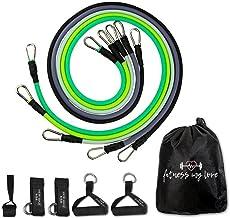 Expander, fitnessbanden, weerstandsbanden-set, fitnessband, 11-delige set oefenbanden