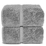 HIGH QUALITY: These towels are made of 100% cotton, which makes them extremely absorbent, soft, fluffy and warm. The hems of the towels are double stitched to ensure their long service. The towels are made in Turkey with quality cotton, which is famo...