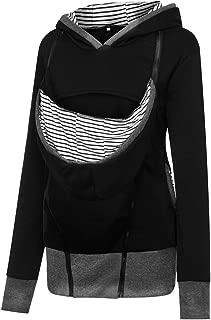 Women's Maternity Breastfeeding Kangaroo Hoodie Jacket for Baby Carrier Wrap Top Wearing Care Shirts Coat