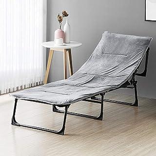Accessoires de décoration Lit pliant Lit pliant pour lit de camp de bureau Lit de sieste avec coussin en peluche pour bure...