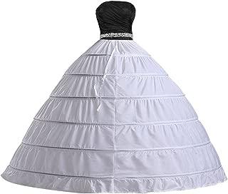 Bridal Dress Gown Half Slip 6 Hoop Petticoats Wedding Crinoline Underskirt