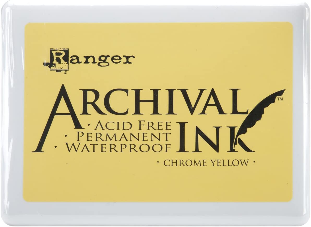Ranger Archival No.3 Ink Discount mail order sold out Yellow Chrome Pad Jumbo