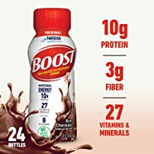 Boost Original Complete Nutritional Drink, Rich Chocolate, 8 fl oz Bottle, 24 Pack (Packaging May Vary)