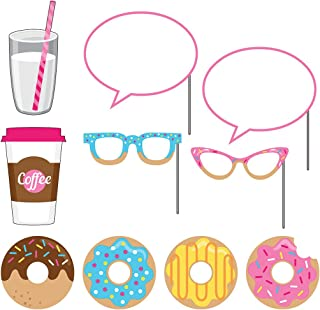 Creative Converting (324239) 10-Piece Photo Props For Party, Donut Time
