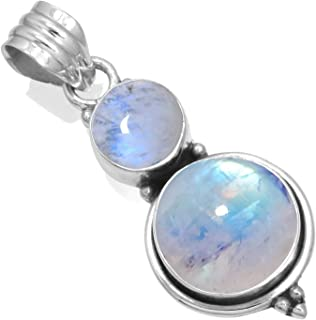 Jeweloporium 925 Sterling Silver Gemstone Handmade Pendant Women Jewelry