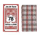SECRETDRESSING - Jeu de Tarot 78 Cartes à Jouer - Dos de Cartes à l' Ancienne Ecossais Esprit bistrot