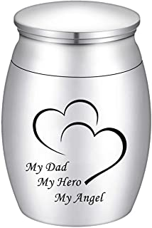 Small Cremation Keepsake Urns for Human Ashes Mini Cremation Urn Small Funeral Urns for Ashes Stainless Steel Cremation Fu...