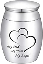 Dletay Small Cremation Keepsake Urns for Human Ashes Mini Cremation Urn Small Funeral Urns for Ashes Stainless Steel Crema...