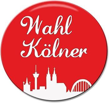 Polarkind Button Anstecker Karnevalsanstecker K/ölle Alaaf you spruch 38mm