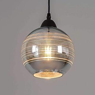 KOSILUM - Suspension ronde abat-jour verre et chrome - Metropolis - Lumière Blanc Chaud Eclairage Salon Chambre Cuisine Co...
