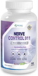 Nerve Control 911 - Phytage Labs (Official – 60 Capsules) All Natural Plant Based Nerve Health & Pain Management Support
