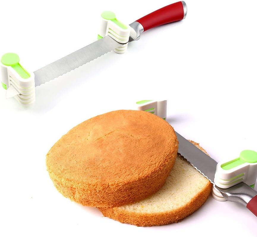 1 83 2Pcs Bread Cutter Slicer Plastic Cake Baking Kitchen Tools Random Color