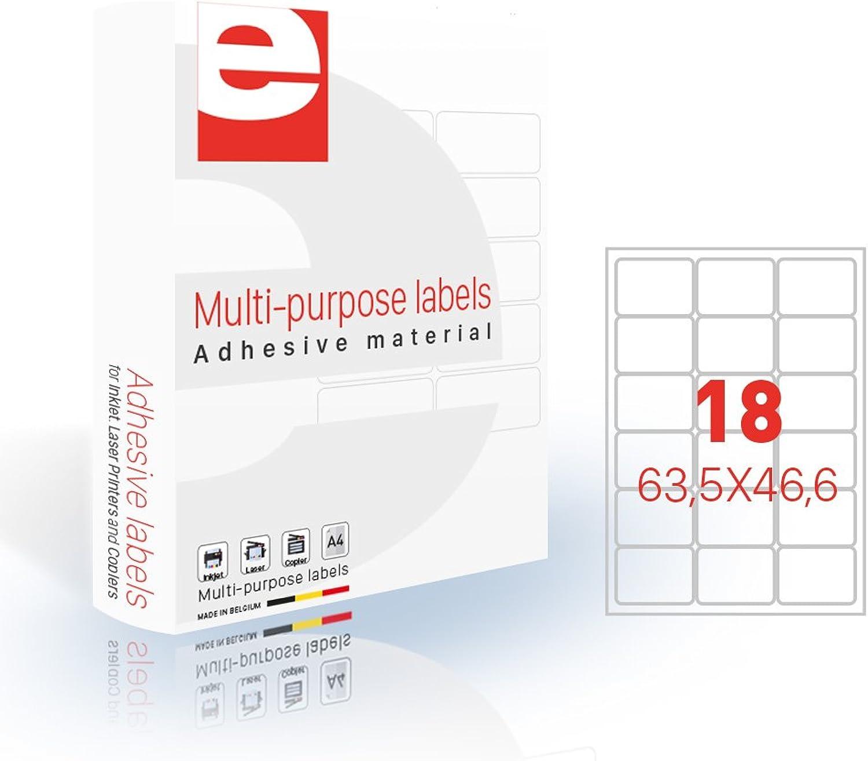 Etilascop 31800130 31800130 31800130 Set 18 Etiketten 100 Blatt Box A4 63,5 x 46,6 mm Glossy B07DBYR12Q  | Qualität und Quantität garantiert  fe0ac3