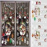 Asvert Fiocco di Neve Casa di Natale Babbo Natale e Cervi con Regali Adesivi per finestre PVC Adesivi per finestre Facile da installare e Applicare Adesivo Decorativo Fai da Te (Bianca 2)