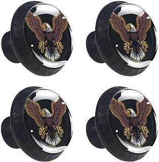 Alas sólidas clásicas del cajón del armario de los muebles redondos del gabinete de la mano del diseño del águila en