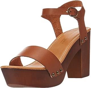 wood heel platform sandals