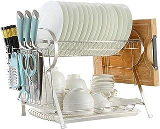 Dxbqm Support de Cuisine pour Organisateur de Rangement, égouttoir à Vaisselle, Baguettes Multifonction en Acier Inoxydabl...