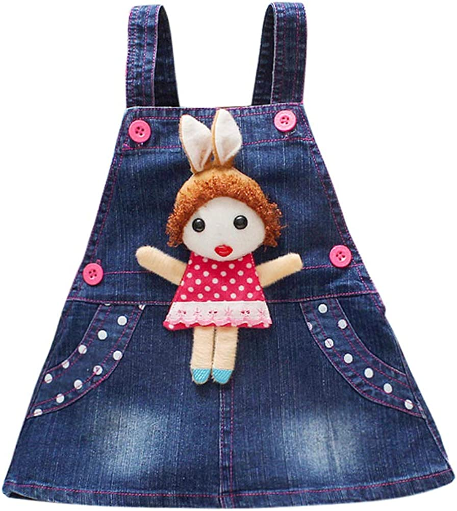 Tortor 1Bacha Toddlers Girls Jeans Discount is also Genuine Free Shipping underway Skirts Kids Suspender Little