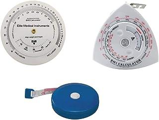 EMI 3 Piece Set: BMI Wheel Calculator, Triangle Calculator Tape Measure, and Tape Measure