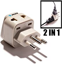 OREI Universal 2 in 1 Plug Adapter Type N for Brazil,, CE Certified - RoHS Compliant (WP-N-GN)