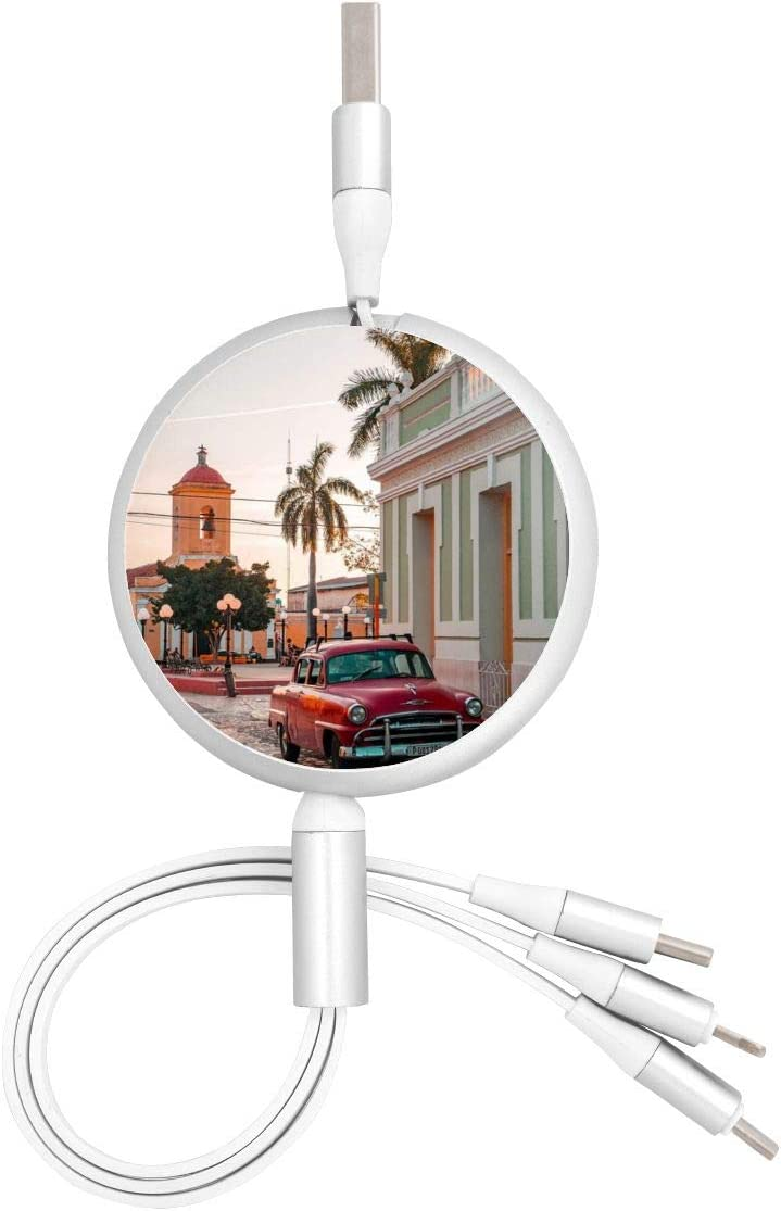 Multi USB Charging Cable Sea Sky Island 3 in 1 Retractable Charger Adapter Cord Compatible with Phone//Type-C//Micro USB Port Cell Phones Tablets Universal Use