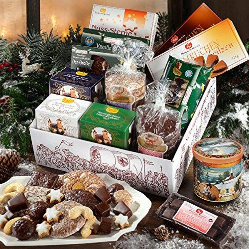 Spezialitäten-Paket Exklusiv, Süßigkeiten-Box, Großpackung, mit Vanillekipferl, Lebkuchen & Keksdose, ideales Geschenk, 1 x 2,3 kg
