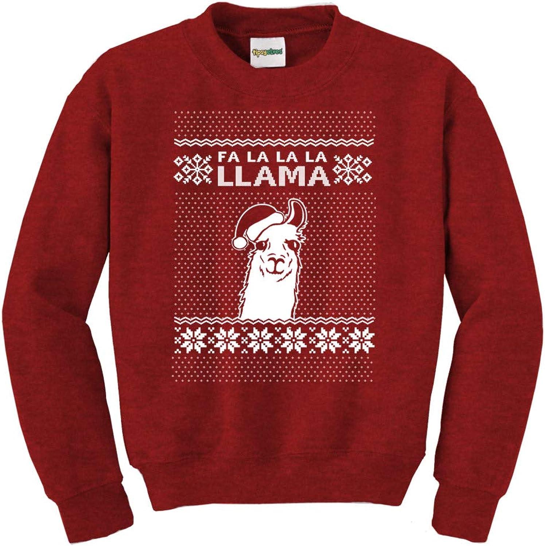 Women's Red Falalalallama Llama Ugly 発売モデル 半額 for Sweater Christmas Ladie