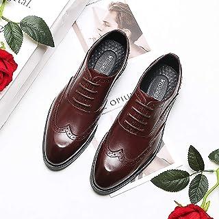 XZHFC Robe Britannique Bullock Chaussures à La Mode Respirante Mode Bout Pointu à Lacets Chaussures Hommes D'affaires