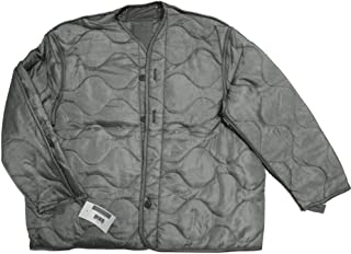 U.S. Government Contractor Foliage Green Quilted M-65 Field Jacket Liner, U.S. Army Cold Weather Coat Insert