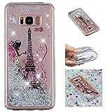 E-Mandala Phone Case for Samsung Galaxy S8 Glitter Liquid Transparent Silicone Bumper Gel Rubber...