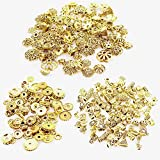CAILI 150g 3 Styles Perles Intercalaires Perles d'Espacement de Style Tibétain en Alliage pour la Fabrication de Bijoux Collier Bracelet, Doré Antique