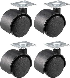 CHENTAOMAYAN Swivel Caster Wielen 1.5 Inch/39mm Twin Wheel Top Plate Caster, 4 stks
