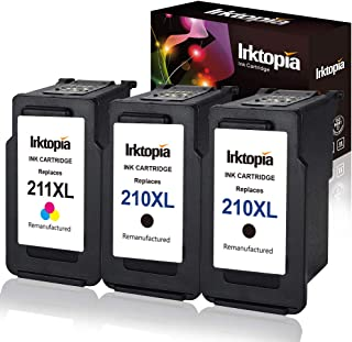 Inktopia Remanufactured Ink Cartridge Replacement for Canon PG 210XL CL 211XL (2 Black,1 Color) Used in Canon PIXMA MP495 IP2702 MP230 MP240 MP250 MP280 MP480 MP490 MP499 MX330 MX340 MX350 MX410 MX420