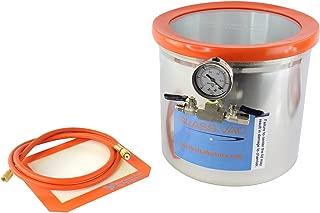 Best Value Vacs- Glass Vac Aluminum Vacuum Degassing Chamber, 3 Gallon