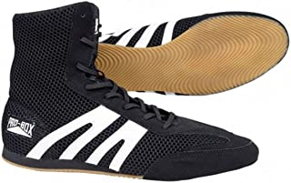 Boxing Pro Box Boots Shoes Senior Black Sold by MinotaurFightStore