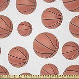 ABAKUHAUS Basketball Stoff als Meterware, Realistische Stil