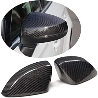 MCARCAR KIT Fits Audi A3 S3 RS3 8V 2014-2018 Factory Carbon Fiber Replacement Style Car Rearview Mirror Covers Caps (without Side Assist)