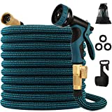 kegemor Expandable Garden Hose 100ft Upgraded,Flexible Lightweight Water Hose With 9 Way Spray Nozzle,Durable 4-layer...