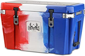 Orion Heavy Duty Premium Cooler (55 Quart, Red-White-Blue), Durable Insulated Outdoor Ice Chest for Maximum Cold Retention - Portable, Bear Resistant, and Long Lasting