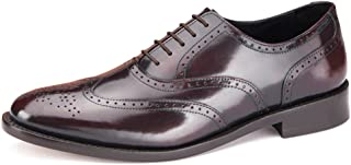 Samuel Windsor Men's Handmade Goodyear Welted Leather Cheltenham Brogue Shoe Brown, Black and Suede Brown.
