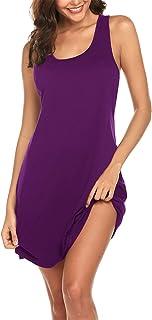 Avidlove Sexy Sleepwear for Women Tank Nightgown Chemise Racerback Sleeveless Sleep Dress
