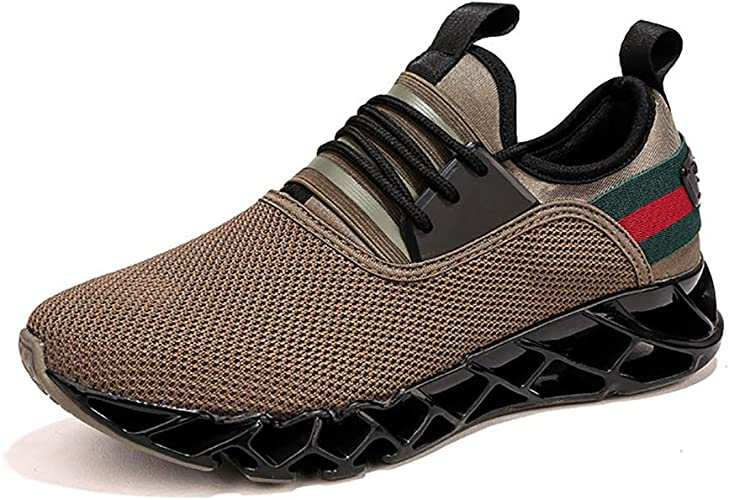 LXJL Baskets pour Hommes Casual Baskets légères Running baskets Fitness,marron,43