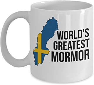 Sweden Coffee Mug - Novelty Mormor Swedish Flag Tea Cup For Women - Best Birthday & Christmas Gift For Grandmothers With Scandinavian Heritage Pride - Proud Nordic Viking Lover Accessories